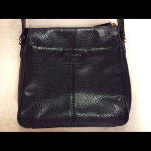 Relic Faux Pebble Leather Black Crossbody Purse